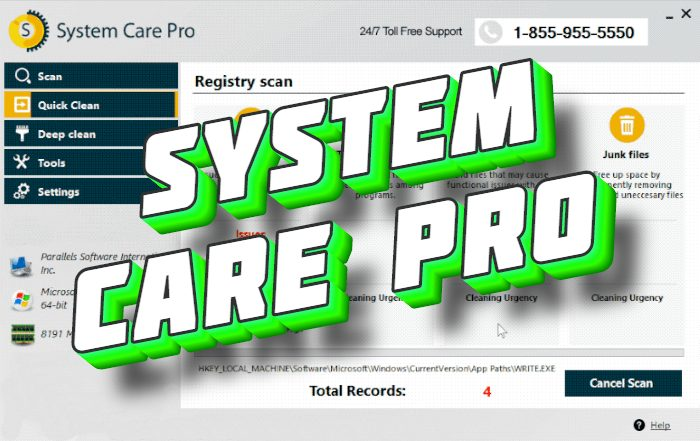 How to remove System Care Pro PUA