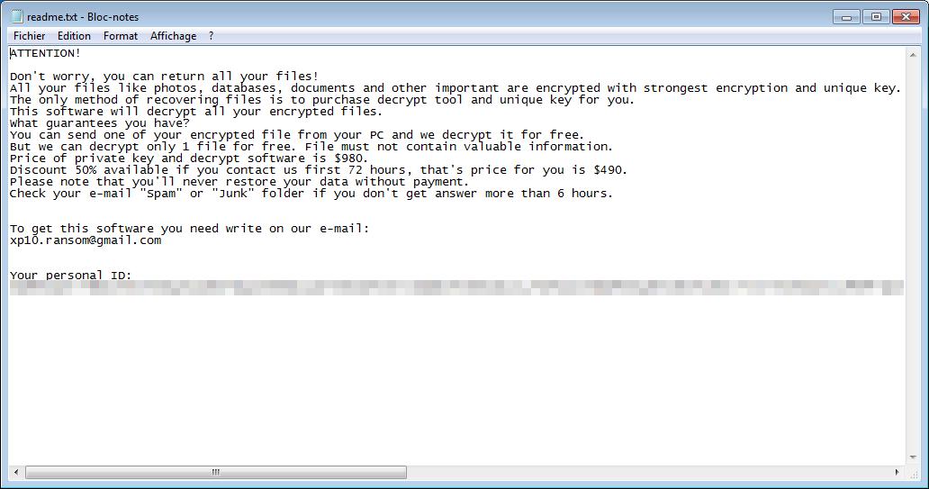 Xp10-ransom ransomware